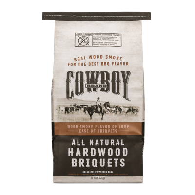 Cowboy® All Natural Range Style Hardwood Briquets