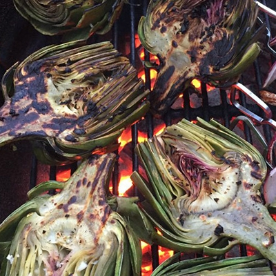 Fire Roasted Garlic Artichokes