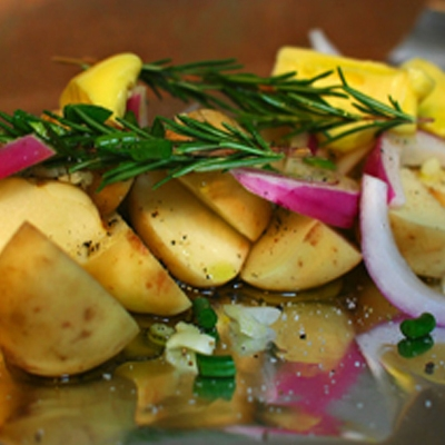 Lemon Thyme Foil-Wrapped Potatoes