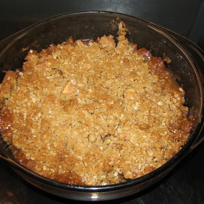 Cowboy's Smoky Grilled Apple Crisp