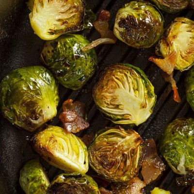 Bacon & Balsamic Brussels Sprouts