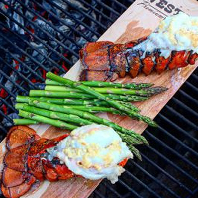 Wood Plank Lobster Tails