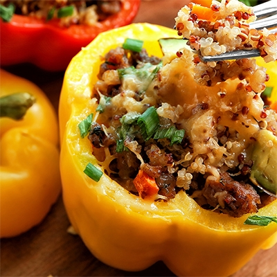 Cowboy's Grilled Southwestern Stuffed Bell Peppers