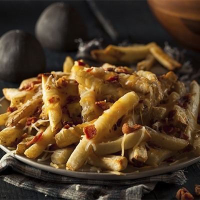 Foil Packet Cheesy Fries