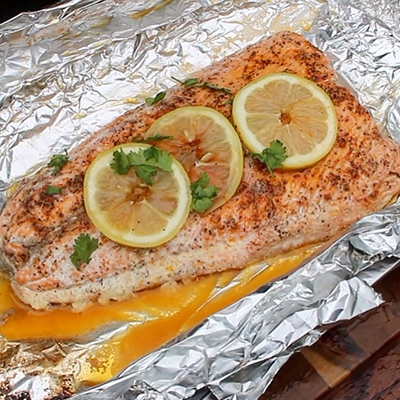 Wrapped Campfire Salmon